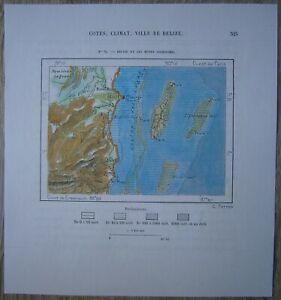 1891 Perron map BELIZE CITY & COCKSCOMB MOUNTAINS, BELIZE (#71)