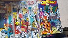 X-men Comic Lot x-force vf-nm bagged 1 3-10 12-14 16-22 24-46 48-55 57-88 90-94