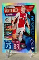 TOPPS MATCH ATTAX DONNY VAN DE BEEK SUPER BOOST STRIKERS LIMITED!!!!