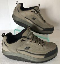 Skechers Shape Ups Nubuck Leather Pebble Taupe Toning Shoes 50875 Mens Size 13