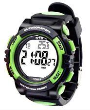 Reloj Deportivo Digital Alarma Cronómetro Luz De Fondo LED-VERDE-NUEVO-Reino Unido Stock!