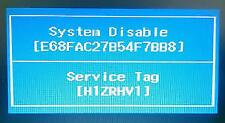 Unlock password system disable Dell Inspiron 5447,Inspiron 3521,Inspiron 3531