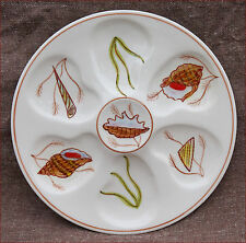 Henriot Quimper Oyster Plate Trevoux Shell Sea Life French Faience 1950