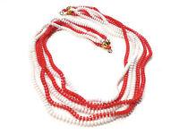 Bijou tendance collier perles 6 rangs  fermoir alliage doré necklace