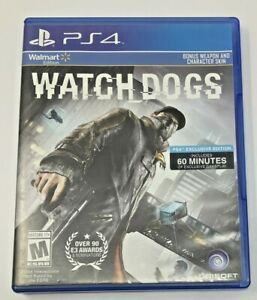 PS4 Watch Dogs (Sony PlayStation 4, 2014) RATED M w/CASE video game VERY NICE