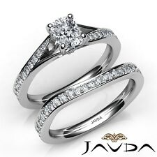 1.7ctw Pave Classic Bridal Cushion Diamond Engagement Ring GIA F-SI1 White Gold