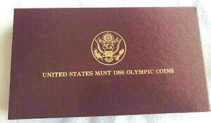 US Mint Empty Presentation Box for 1988 Commemoratives; NO COINS