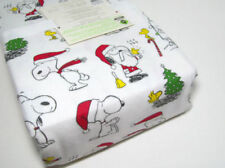 Pottery Barn Kids Peanuts Snoopy Woodstock Flannel Cotton Full Double Sheet Set