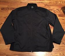 Pro Tour Cool Play Golf Jacket Black Full zip  Size XL Wind & Water Resistant