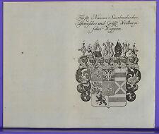 Wappen, Stammtafel, Fürsten Nassau Saarbrücken Idstein, Weilburg  von 1761  #58