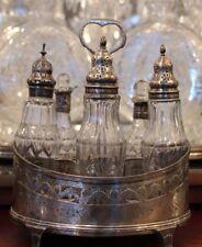 Sterling silver cruet set English Antique silver cruet Georgian era Silver set
