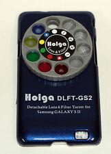 Holga Desmontable Lente Filtro Kit DLFT Para Samsung Galaxy Sii Azul