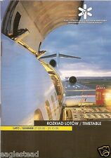 Airline Timetable - Warsaw Frederic Chopin Airport - 27/03/05 - S