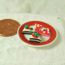 "1"" scale Dollhouse Miniature 1:12 - Miniature Food 4 Cake Cuts Slices 1"