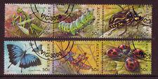 Australia 2003 Bugs y Mariposas Conjunto De 6 in 2 TIRAS MATASELLADO