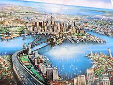 Australian Artist Ian Stephens  framed print 'Sydney Panorama'