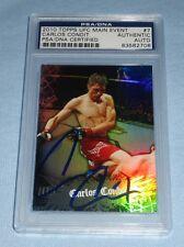 Carlos Condit Signed UFC 2010 Topps Main Event Card #7 PSA/DNA COA Autograph 143