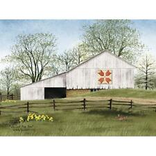 Billy Jacobs Tulip Quilt Block barn Art Print 16 x 12
