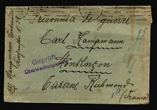 Germany 1915 POW Cover to France / Fold / Edge Creasing - Z14434