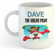 "Personalised ""Airline Pilot"" Mug, Enter Your Own Custom Name"