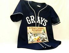 Negro League Homestead Grays Baseball Jersey & Negro League Scrapbook