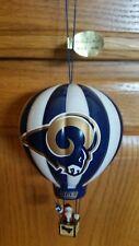 New St Louis Rams 2004 Danbury Mint Christmas Ornament Hot Air Balloon Football