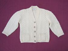 James Pringle Scotland Chunky Aran Knit Wool Cardigan Sweater Size M