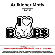 I LOVE BOOBS  - Autoaufkleber Aufkleber Fun Spaß Sticker Lustige Sprüche