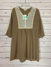 Umgee Boutique Women's S Small Ivory Cute Fall Tunic Top Blouse NEW With TAGS