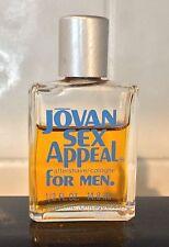 Vintage Jovan Sex Appeal Cologne for Men - .5 oz - 70% full
