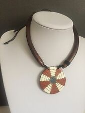 Ethnic Wooden Stone Malaysian Necklace