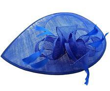 1162569bd66c5 New Races Ladies Day Royal Ascot Weddings Hat Cobalt Blue Large Fascinator  Clip
