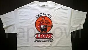 "Lions Drag Strip T-Shirt ""The Last Drag Race"" Dec. 1-2 ,1972 Full NHRA Event"