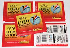 Panini EM EC Euro 2000 00 – 5 x Tüte packet bustina sobre pochette VERS. NORMAL