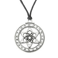 Wicca Talisman for Poets Writers and Actors Pentacle Pendant Necklace