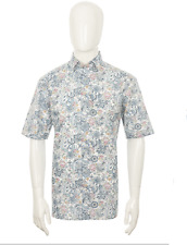OLYMP Luxor Comfort Fit Oriental Print Shirt/Blue - 2XL BIG BODY SRP £59.99