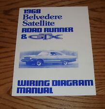 1968 plymouth belvedere satellite road runner & gtx wiring diagram manual 68