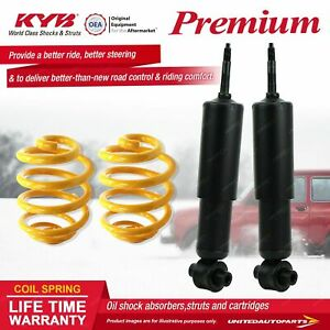 Front KYB PREMIUM Shock Absorbers Lowered King Springs for FIAT 124 I4 RWD