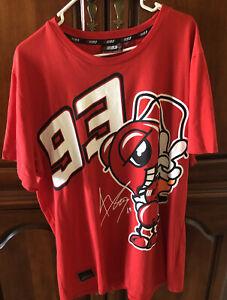 Marc Marquez Official #93 Red Shirt T-shirt MotoGP Rider 2XL Short Sleeve