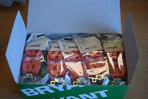 PACK OF 10 - BRYANT BRY5262IG - ORANGE - ISOLATED GROUND RECEP - BACK+SIDE WIRED