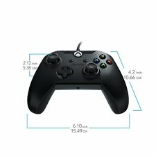 PDP 048-082-NA-BK Wired Controller with Cable for PC and Xbox One Black