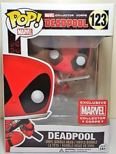 Funko Pop Deadpool Leaping # 123 Exclusive Marvel Collector Corps Bobble Head