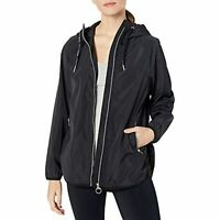 Calvin Klein Performance Women's Hooded Rain Jacket, Black, Size S, $99, NwT
