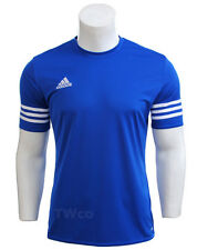 adidas Mens T Shirt Short Sleeve Top Entrada 14 Football Gym Sports Jersey S-2xl Blue 2xl