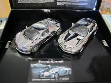 Scalextric Set: hypercars Chrome BUGATTI VEYRON + Mb Slr Mclaren c3169a