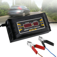 12V 6A Auto Smart Fast Lead Acid Battery Charger for Car Motorcycle LCD Display