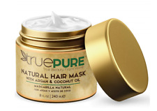 TruePure Argan Oil Hair Mask Conditioner for Dry Damaged Hair Treatment 8 Oz