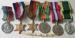 Rhodesia WWII Medals LT Artillery Burma NZ Kenya Efficiency BSAP Rhodesian