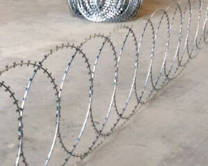 Flat Profile / Flat Wrap Razorwire (10m) Security Fencing