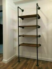 5 Tier x 2 Floating Shelf Frame Industrial Style, Pipe Support, DIY Ceiling Hung